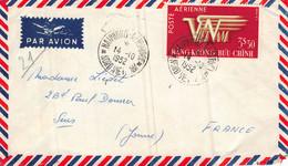 VIETNAM  - Haiphong Aerogare 1952 - Lettre Par Avion - Vietnam