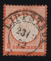 1872 Goßes Brustschild Mi DR 18 Sn DE 16 Yt DR 15 Sg DR 18 AFA DR 18 - Used Stamps