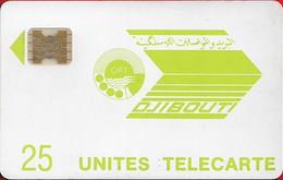 Djibouti - OPT - Light Green Logo - SC4 GW Afnor, Cn.11693 Dot By Dot, 7mm Hole, 1989, 25U, 25.000ex, Used - Gibuti