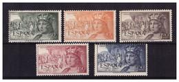 ESPAÑA. 1952. FERNANDO AEREOS. EDIFIL 1111/1115. MNH**. BIEN CONSERVADOS - 1951-60 Ongebruikt