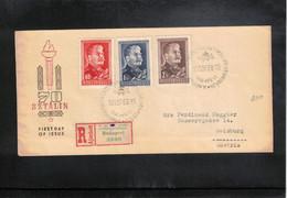 Hungary 1950 Stalin Interesting Registered Letter - Lettere