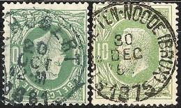 N° 30  EC Met ST HUBERT + ST JOSSE-TEN-NOODE (BRUX) - 1869-1883 Leopold II.