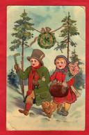 CPA Relief Gel Brillant 1912 Illustration Chien Dog Dachshund Ou Teckel - 1900-1949