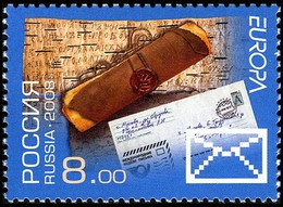RUSSIA 2008 Stamp MNH ** VF Mi 1462 EUROPA CEPT EUROPE LETTER LETTRE LETTERS BRIEF POST POSTALE MAIL 1230 - 2008