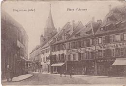 Bas Rhin : HAGUENAU : Place D'Armes : Devanture De Magasins : Alsace : - Haguenau