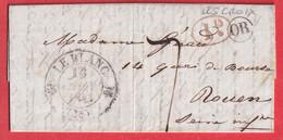 CAD TYPE 12 LE BLANC INDRE OR LES CROIX POUR ROUEN 1848 - 1801-1848: Vorläufer XIX