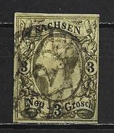1855 SACHSEN SAXONY 3 NGR. MICHEL: 11 USED - Sachsen