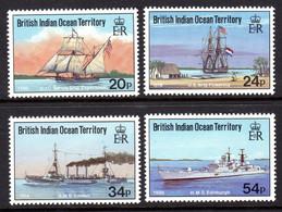 BRITISH INDIAN OCEAN TERRITORY BIOT - 1991 VISITING SHIPS SET (4V) FINE MNH ** SG 115-118 - British Indian Ocean Territory (BIOT)
