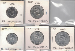 French Polinesia 1 , 2 , 5 , 10 And 50 Francs 2004-2005 Set All UNC - Other - Oceania