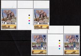 UMM - Elephants 2008in Gutter Pairs - Botswana (1966-...)