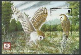 Jersey 2001 Mi Bl 30I MNH ( ZE3 JRSbl30I ) - Eulenvögel