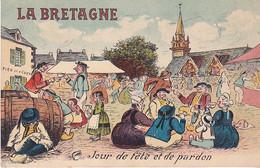 VIL- LA BRETAGNE JOUR DE FETE ET DE PARDON     CPA  CIRCULEE - Bretagne