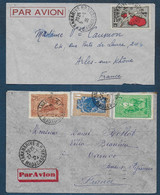 Madagascar - 2  Enveloppes Par Avion De Tananarive Pour La France - Briefe U. Dokumente