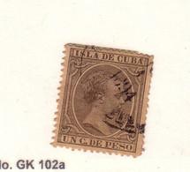 CUBA 1890 ALFONSO XIII  YVERT N°73 OBLITERE - Oblitérés