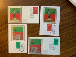 FDC Soie Zijde COB 1925/6 1000 Ans Bruxelles - 1000 Jaar Brussel Houthalen - Unclassified