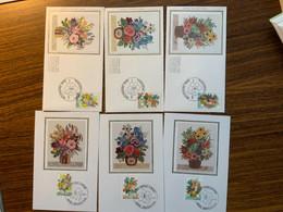 FDC Soie Zijde COB 1966/8 Floralies Gantoises Gentse Floraliën - Unclassified