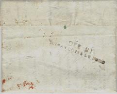 1814- Lettre De BOURBON-VENDEE ( Vendée) Pour Dinan ( Côtesd'Armor -réexp. -au Dos, DEB. 21 / DINAN COTES DU NORD  Noir - 1801-1848: Vorläufer XIX