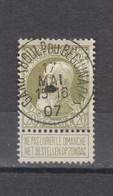 COB 75 Centraal Gestempeld Oblitération Centrale GENT - GAND (Boulevard Du Beguinage) - 1905 Breiter Bart