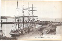 GRANVILLE : QUATRE MATS A QUAI - Granville