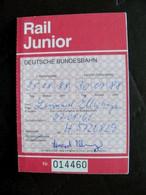 Rail Junior Ticket Germany Bremen 1988 - Europa