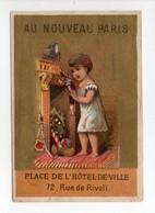 - CHROMO AU NOUVEAU PARIS - Place De L'Hôtel-de-Ville - 72, Rue De Rivoli - Décembre - Edition MERTENS - - Otros
