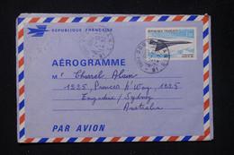 FRANCE - Aérogramme Type Concorde De Paris Pour L'Australie En 1969 - L 81344 - Aerogramas