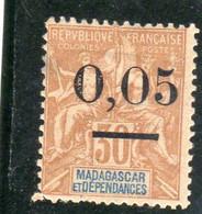 Madagascar ,année 1902 N°52** - Unused Stamps