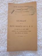 Livre Extrait De La Note Secrète Du C.Q.G.des Affaires De Verdun  Ww1  14-18 - 1914-18