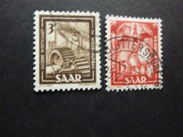 Saarland MiNr.274,275 1Fr.3Fr.gestempelt Bilder Aus Industrie, Handel Und Landwirtschaft 1949 - Sin Clasificación