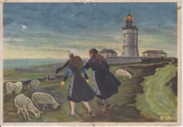 OUESSANT (Finistère) Phare Du Stiff - Illustration De Charles Homualk - Ouessant