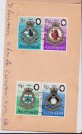Île De L'Ascension Island Lettre Timbre Blason Auckland Bermuda Nigeria Lowestoft Heraldic Stamp Air Mail Cover 1972 - Ascensión