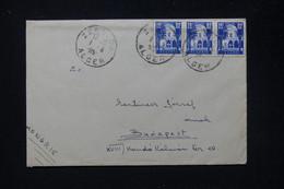 ALGÉRIE - Enveloppe De Zeralda Pour Budapest ( Hongrie ) En 1955, Affranchissement En Bande De 3 - L 81372 - Covers & Documents
