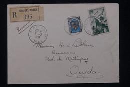 ALGÉRIE - Enveloppe En Recommandé De Sidi Bel Abbes Pour Oujda En 1951 - L 81374 - Covers & Documents