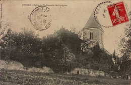 Cpa 17 Jonzac Eglise De Saint Germain De Lusignan - Jonzac