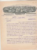 Lettre Illustrée 18/10/1923 GRITZNER Maschinenfabrik Aktiengesellschaft DURLACH Allemagne - 1900 – 1949