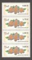 2020 Estonia ATM EE04 MNH Stamp Set Of All Various Nominals Christmas  Mi 5 - Estland