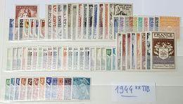 Année Complète 1944 Neuf ** TTB à 16% De La Cote. - 1940-1949