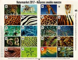 Denmark WWF 2017.  Sheet  With 20 Labels; Nature's Beautiful Patterns, MNH (**); Self Adhesive. - Non Classificati