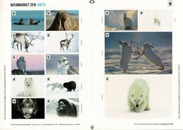 Denmark WWF 2018.  Sheet  With 14 Labels; Antarctica, MNH (**); Self Adhesive. - Non Classificati