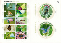 Denmark WWF 2020.  Sheet  With 12 Labels; Danish Insects, MNH (**); Not Folded; Self Adhesive. - Non Classificati
