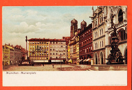VaZ100 MUNCHEN Bayern Marienplatz 1900s Litho BRUCK Georg BRUNNER Nürnberg Deutschland - Muenchen