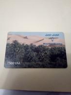 MAURITANIE PREPAID DESERT OASIS MARITEL MOBILES 1500 UM UT VALID 01.06.2002 - Mauritanië