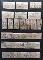FISCAUX  FRANCE LOT De 50 EFFETS DE COMMERCE DIFFERENTS 1860 /1880 - Fiscale Zegels