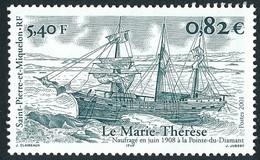 ST-PIERRE ET MIQUELON 2001 - Yv. 752 **   Faciale= 0,82 EUR - Navire Marie-Thérèse  ..Réf.SPM12272 - Neufs