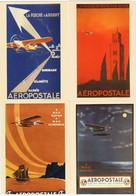 2017 / Lot De 4 Cartes Pré-timbrées /  L'Aéropostale - 1919-1938