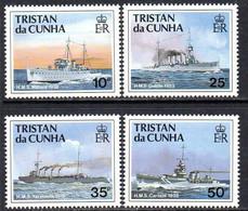 Tristan Da Cunha 1991 Royal Navy Ships II Set Of 4, MNH, SG 509/12 - Tristan Da Cunha