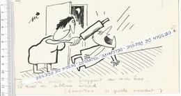 D9  / Press Cartoon / BD Humour  Dessin De Presse ORIGINAL Signé Dessinateur PI Lamartine Rouleau Pâtisserie  Femme Mari - Zeichnungen