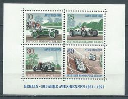 Berlin Bloc-feuillet YT N°3 Courses Automobiles Avus Neuf ** - Bloques