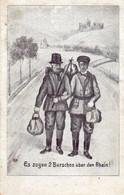 DC5162 - Künstler Ansichtskarte Es Zogen 2 Burschen über Den Rhein Kaiser Wilhelm II. Kronprinz Wilhelm - Royal Families