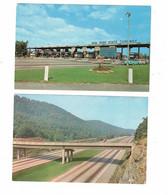 2 Different NEW YORK THRUWAY, USA, Old  Chrome Postcard - Ohne Zuordnung
